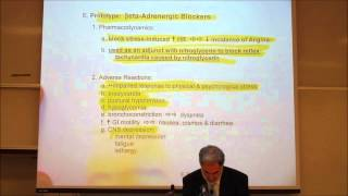 CARDIOVASCULAR DRUGS; ANTI ANGINAL DRUGS by Professor Fink