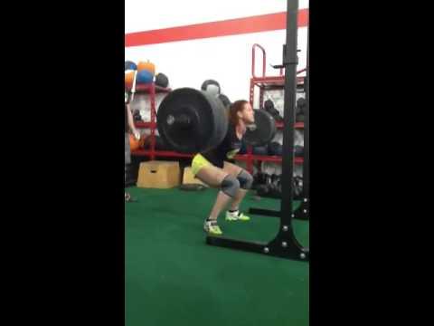 Rx lab athlete - Amelie Gagnon 255lbs back squat light as a