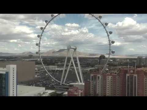 View from the 26th floor of the Flamingo Las Vegas Habitat, pool & the High Roller, March 2016
