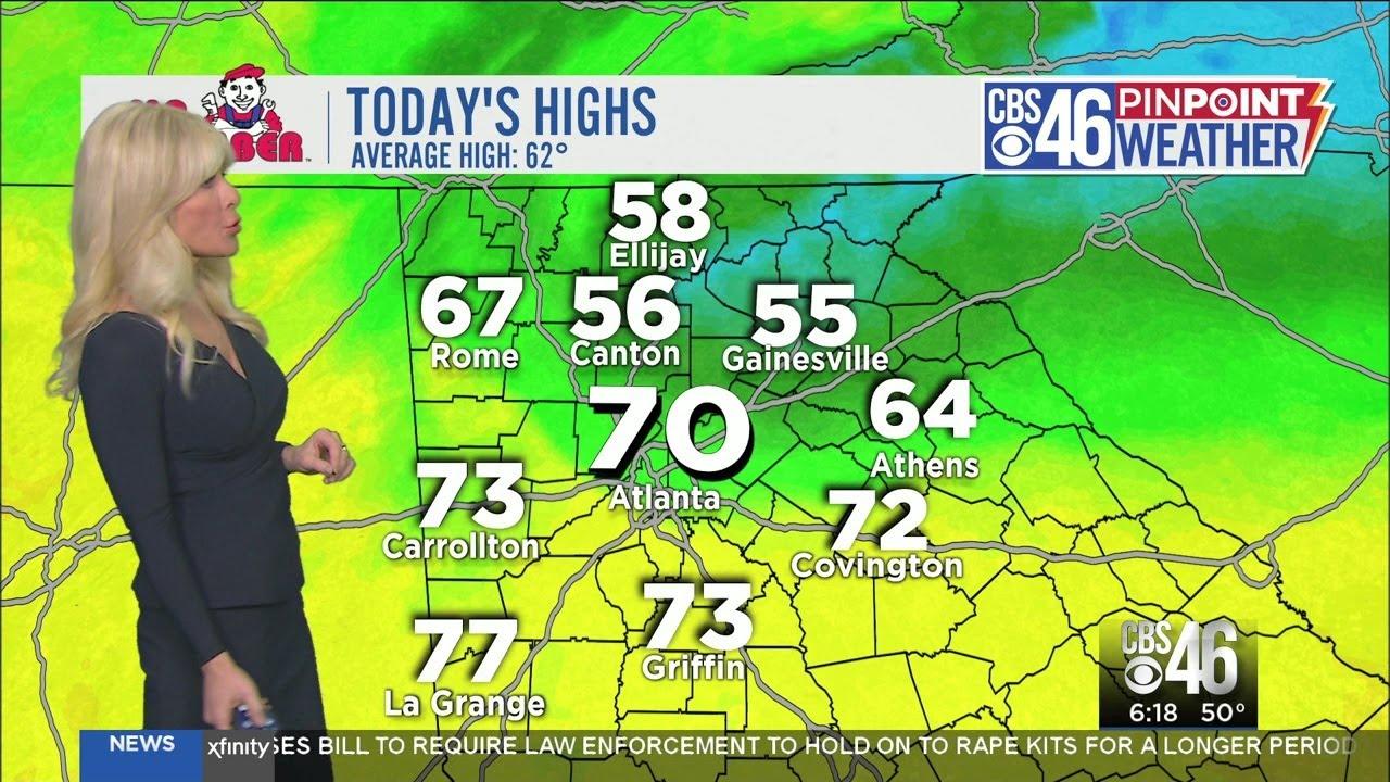 Saturday's weather forecast in Atlanta