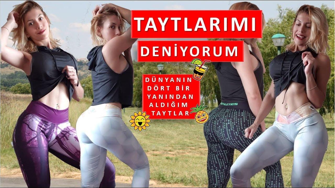 TAYTLARIMI DENİYORUM -BİRİNİ HEDİYE EDİCEM !  -try on haul active wear