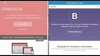 Bootstrap Vs. Materialize
