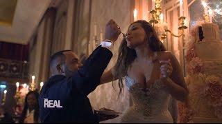 Adrienne & Israel's Wedding: The Feeding of the Cake!