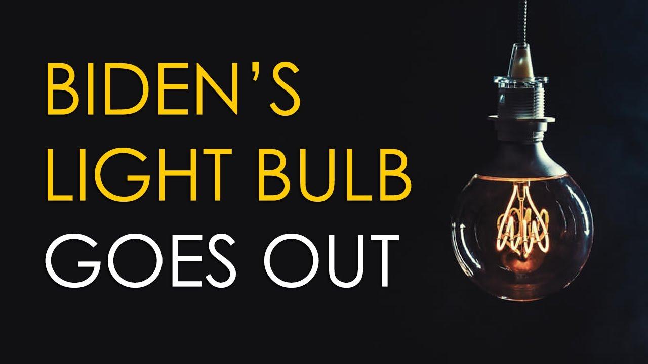 Joe Biden's Lightbulb Lie