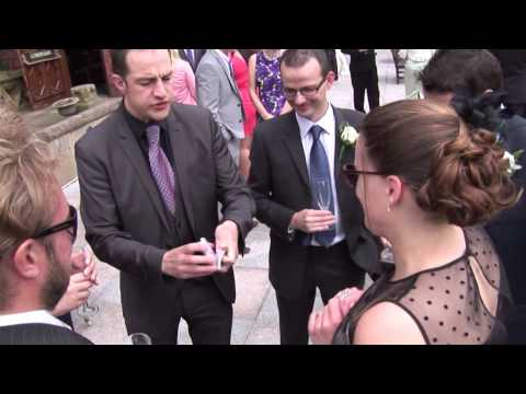 Mari Jimages Videography - a great MAGICIAN NICK RUSHTON at work to enhance your Guests enjoyment