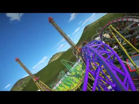 Warlock - Sky Rocket Roller Coaster - Luna Park (Planet Coaster Creation)