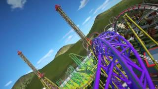 Warlock - Sky Loop Roller Coaster - Luna Park (Planet Coaster Creation)