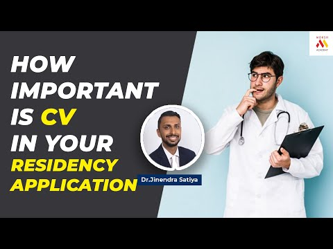 How Important Is CV In Your Residency Application? | USMLE | 2021 | Moksh Academy
