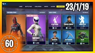 RED KNIGHT & WHITEOUT SKINS | 60 Second Fortnite Shop (Fortnite Battle Royale)