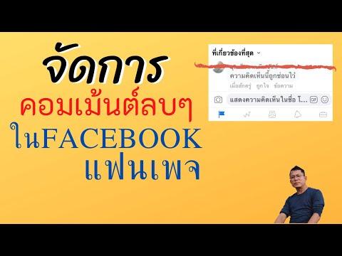 จัดการคอมเม้นลบๆใน Facebook Fanpage