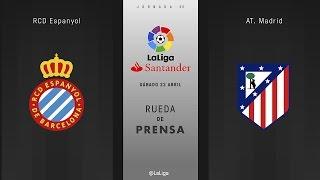 Rueda de prensa del Espanyol - Atlético