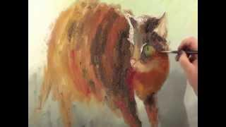 Полина Сахарова Кошка в поле Картина Маслом Холст