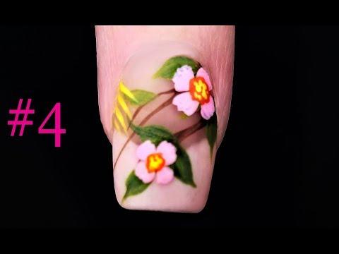 #4 Nail Art Design For Beginners | 4 Petal Flower Nails Tutorial