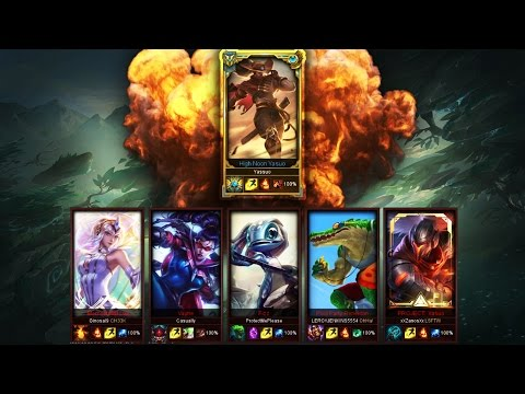 """""""Yassuo"""" Challenger Yasuo Main vs. Five Silver Players (1v5) Crazy Game - League of Legends"""
