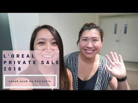 Sneak Peak L'Oreal Private Sale 2018