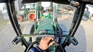 Cab View | Fendt Farmer 411 + Sfoggia K4 sf | Sowing Wheat
