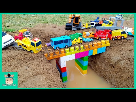 Thumbnail: Tayo Bus Car toy videos for kids | Excavator, Truck, Mega Bloks, Nursery Rhymes Song | MariAndToys
