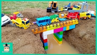 Repeat youtube video Tayo Bus Car toy videos for kids | Excavator, Truck, Mega Bloks, Nursery Rhymes Song | MariAndToys