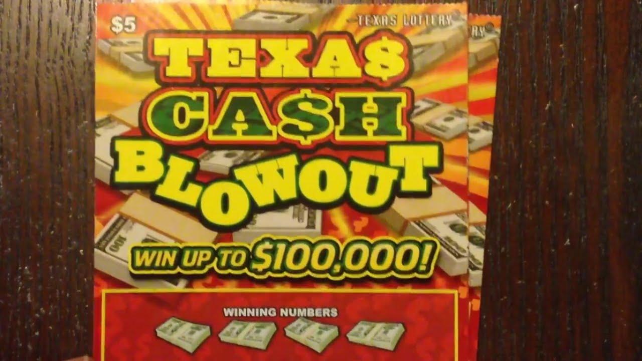 WIN! 2 x $5 Texas Cash Blowout Texas Lottery Scratch Off Tickets