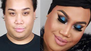 blue smokey eye new years eve makeup tutorial   patrickstarrr