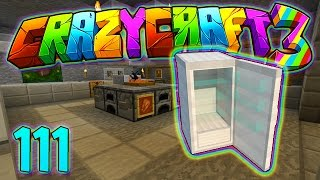 Minecraft Crazy Craft 3.0: HOW TO BUILD THE NICEST KITCHEN EVER! #111 (Modded Roleplay)