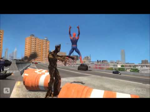 Amazing Spider Man VS Groot Guardians of the Galaxy 1080p
