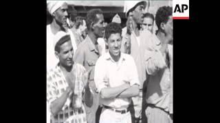 CAN195 KHRUSCHEV AND NASSER VISIT SITE OF ASWAN DAM