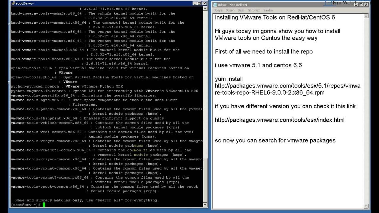 Installing VMware Tools on RedHat CentOS 6