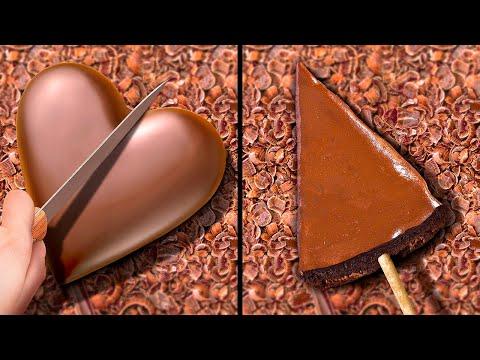 27-deliciosas-recetas-de-chocolate-||-ideas-de-decoración-de-chocolate-diy-para-postres-y-pasteles