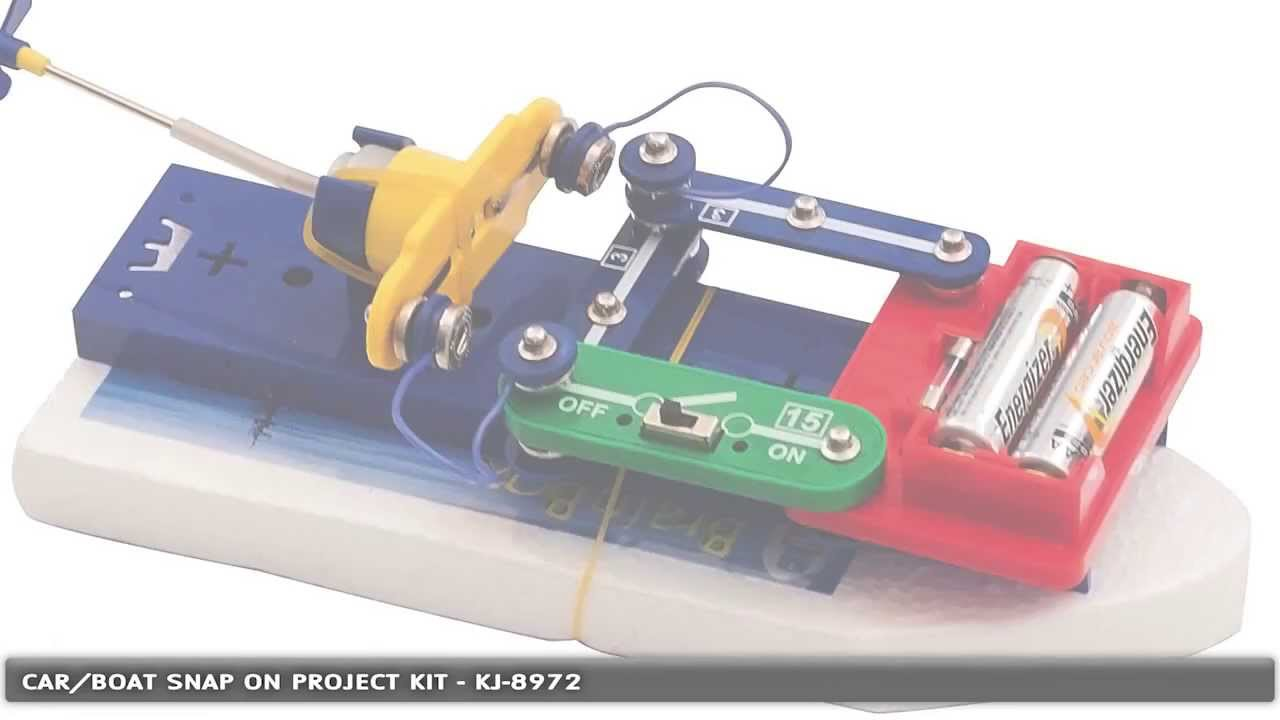 Car and Boat Snap-on Electronic Project Kit with 50 Experiments - KJ ...