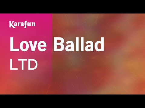 Karaoke Love Ballad - LTD *