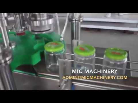 Glass Bottle Tin Lid Capping Machine with Automatic Cap Loader