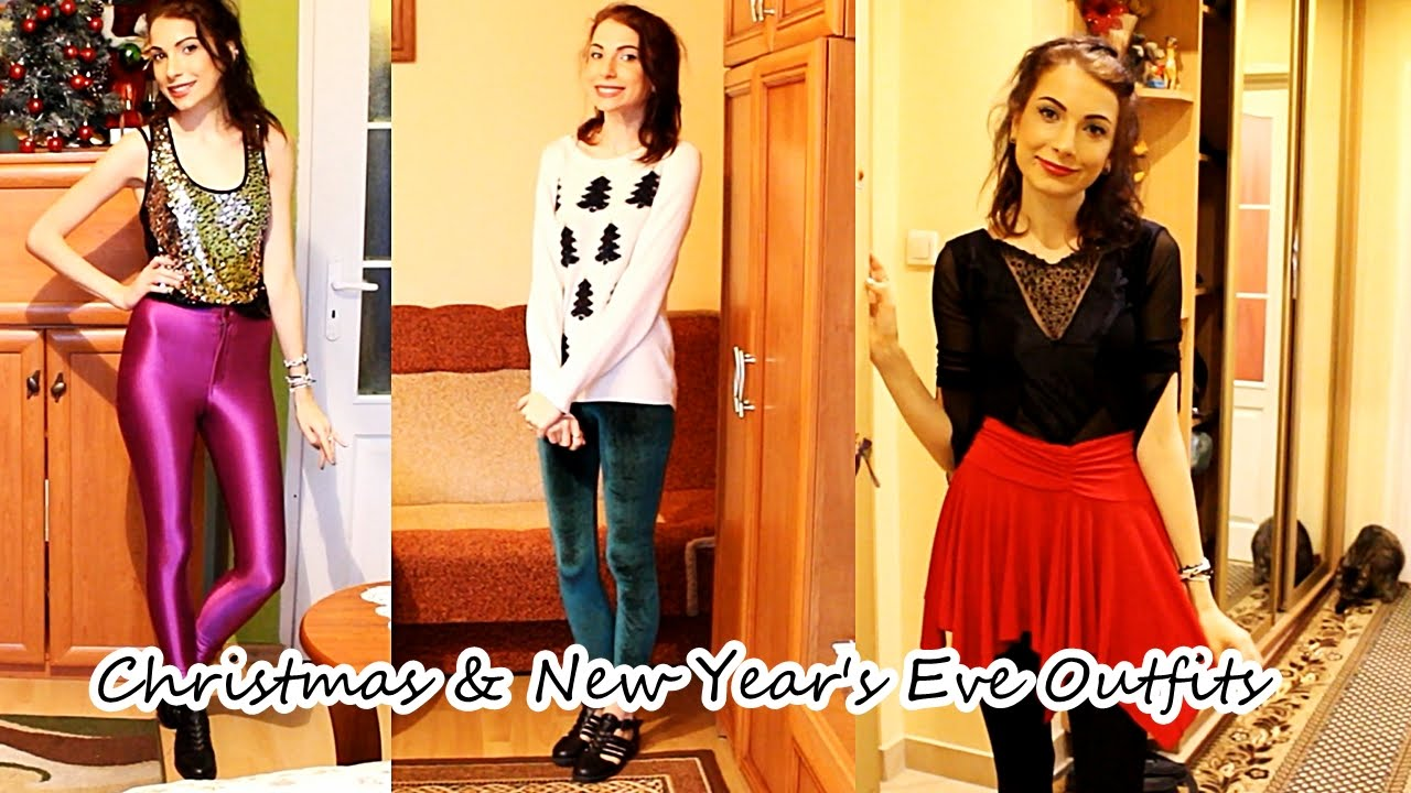 My Christmas Eve, Christmas Day & New Year's Eve Outfits - YouTube
