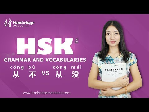 Hanbridge Chinese HSK Video: how to use  从来VS从不