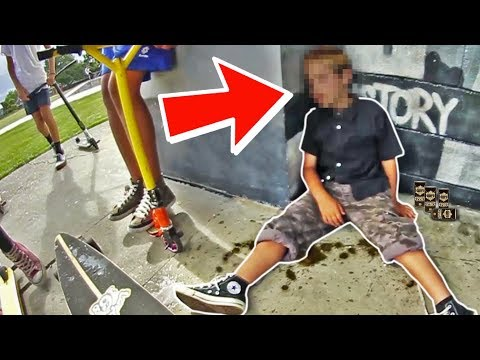 DRUNK 8 YEAR OLD KID AT SKATE PARK *Cops Called*