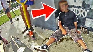 DRUNK 8 YEAR OLD KID AT SKATE PARK *Cops Called*