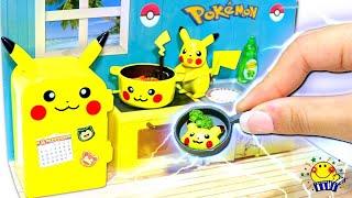【可愛いすぎる!★】リカちゃんがアンパンマンとピカチュウキッチンリーメントのおもちゃで料理ショー★メルちゃんとおままごとセットを開封!子供向け miniature Pikachu kitchen