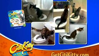 CitiKitty Cat Toilet Training Kit Commercial