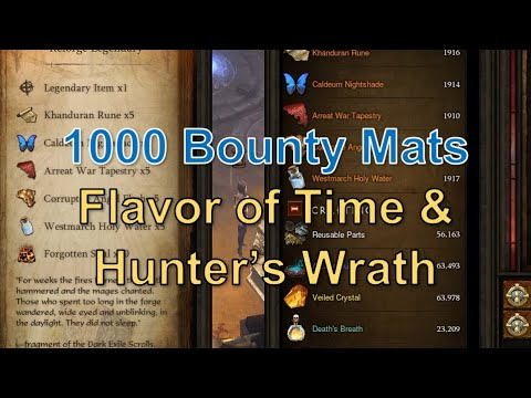 Reforging 1000 Bounty Mats On Flavor Of Time Hunter S Wrath Got A Good Amulet Early Season 21 Youtube