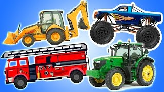 Trucks for Children 1 Hour Compilation - Mighty Machines for Kids