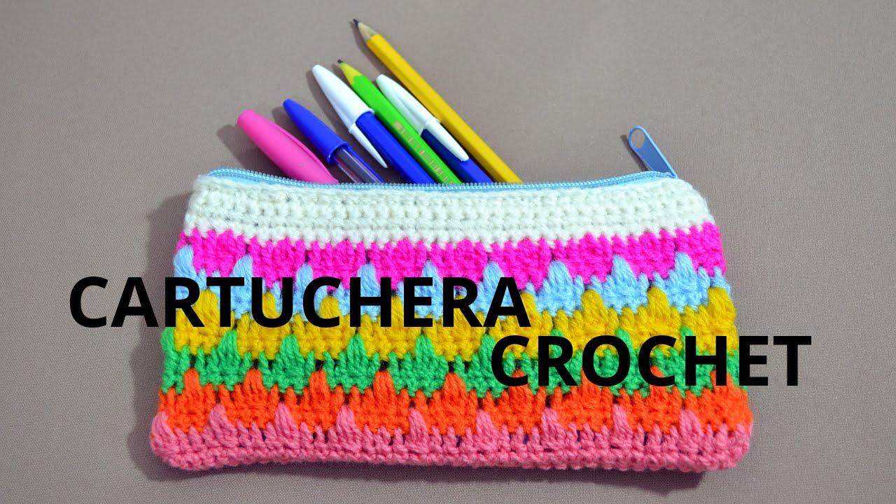 Como tejer una #cartuchera o Estuche en tejido crochet o ganchillo ...