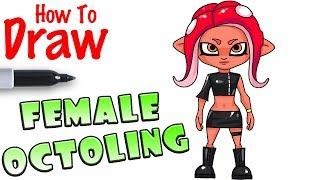 How to Draw Female Octoling | Splatoon