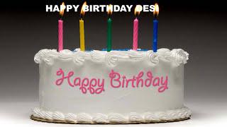 Desi - Cakes Pasteles_600 - Happy Birthday