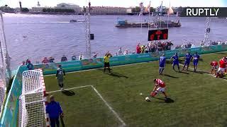В Санкт-Петербурге проходит Матч легенд в честь года до старта Евро-2020