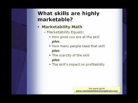Why Highly Marketable Skills are Crucial for Your Job Search - YouTube