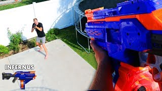 NERF Fortnite Gun Game IRL!!