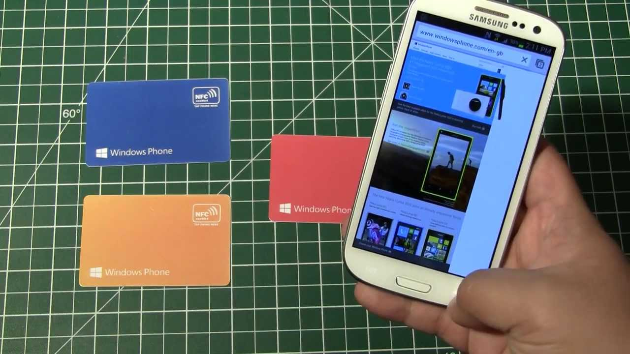 PVC Plastic NFC Business Cards - YouTube