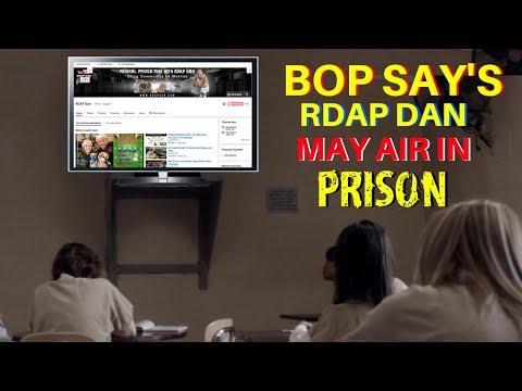 RDAP DAN May Air In Federal Prisons.