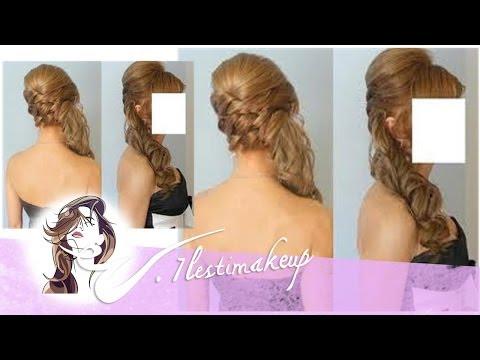 Peinados recogidos de lado con crespos