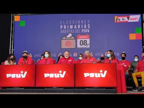 Primeros resultados de elecciones primarias del PSUV, leídos por Diosdado Cabello este 9 agosto 2021